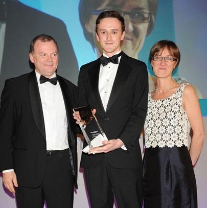 Ciaran Jenkins accepting his award