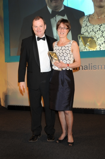 Susie Schofield with chair Richard Sambrook